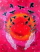 Priyanka Rastogi - Whimsical Painting-Birds...