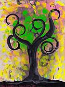 Coin Prints - Whimsical Tree 5 Print by  Abril Andrade Griffith
