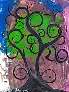 Abril Andrade Griffith Art - Whimsical Tree 7 by  Abril Andrade Griffith