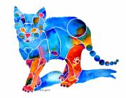 Feline Paintings - Whimzical Katie Kitten by Jo Lynch