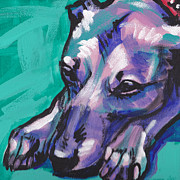 Whippet Painting Prints - Whip It Print by Lea