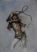 Pencil Paintings - Whip by Ray Agius