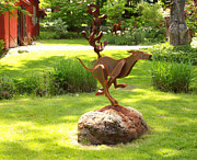 Rust Sculptures - Whippet by Denis Curtiss
