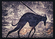 Whippet Silhouette Print by John Clum
