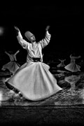 Holy Art Framed Prints - Whirling Dervish Framed Print by Okan YILMAZ