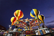 Amusements Photos - Whirling Fun by Mary Haber
