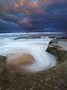 Fleurieu Peninsula Photos - Whirlpool Dawn by Mike  Dawson