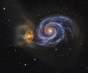 Tidal Forces Prints - Whirlpool Galaxy Print by R Jay GaBany