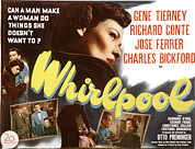 1949 Movies Prints - Whirlpool, Gene Tierney, 1949 Print by Everett