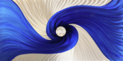Blue Wall Sculpture Framed Prints - Whirlpool Framed Print by Rick Roth