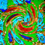 Whirlwind Prints - Whirlwind - Abstract Art Print by Carol Groenen