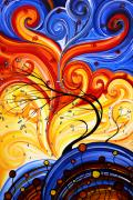 Handmade Paintings - Whirlwind by MADART by Megan Duncanson