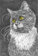 Kelly Posters - Whiskers - Color Tinted Art Print Poster by Kelli Swan