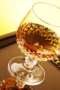Goblet Photo Posters - Whiskey in glass Poster by Blink Images