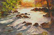 Portage Painting Prints - Whiskey Rapids  Oxtongue River Print by Madelaine Alter