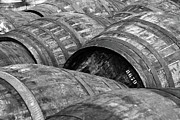 Black And White Photography Photos - Whisky Barrels by (C)Andrew Hounslea