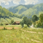 Landscape Oil Paintings - Whisper Mountain Vista by Stuart Roper