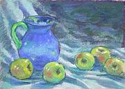 Drapery Pastels Prints - Whisper of Cezanne Print by Julie Mayser