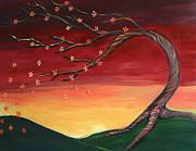 Whispering Autumn Tree Print by Astrid Padilla