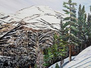 Ski Hill Prints - Whispering pines Print by Marilyn  McNish