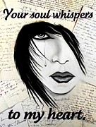 Love Letter Drawings Posters - Whispering Soul Poster by Barbie Guitard