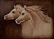 Animals Pyrography - Whispers by Jo Schwartz