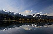 Whistler Photos - Whistler Blackcomb Green Lake Reflection by Pierre Leclerc