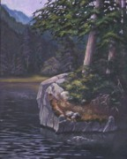 Cedars Paintings - Whistler in August by Birgit Coath