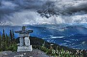 Ski Resort Photo Posters - Whistler Inukshuk Poster by John Melton