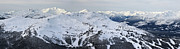 Snowboard Prints - Whistler mountain panorama Print by Pierre Leclerc
