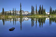 Whistler Photos - Whistlers Harmony lake  by Pierre Leclerc
