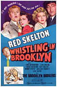 Skelton Posters - Whistling In Brooklyn, Red Skelton, Ann Poster by Everett