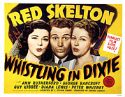 Skelton Posters - Whistling In Dixie, Ann Rutherford, Red Poster by Everett
