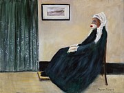 Whistler Painting Posters - Whistling Mother Poster by Randy Burns