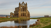 Stoker Posters - Whitby abbey Poster by John Hallett