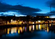 Whitby Framed Prints - Whitby eve Framed Print by Svetlana Sewell