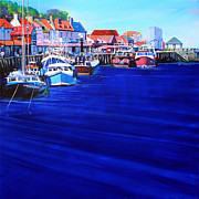 People Paintings - Whitby Fishing Boats by Neil McBride