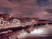 John Adams Digital Art Framed Prints - Whitby Harbour Framed Print by John Adams