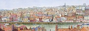 Picturesque Painting Prints - Whitby in North Yorkshire Print by Michael Dermody