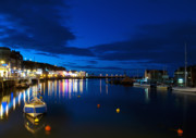 Whitby Framed Prints - Whitby Lights Framed Print by Svetlana Sewell