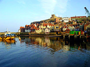 Whitby Framed Prints - Whitby Reflections Framed Print by Amanda Moore