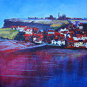 Coast Paintings - Whitby Smokehouses by Neil McBride