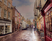 John Adams Digital Art Framed Prints - Whitby street Framed Print by John Adams