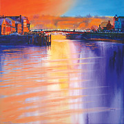 Dock Paintings - Whitby Swing Bridge by Neil McBride