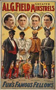 Segregation Posters - White Actors Faces Appear Poster by Everett