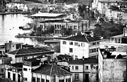 Unique View Prints - White and Black in Istanbul Print by John Rizzuto