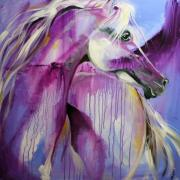 White Arabian Nights Print by Laurie Pace