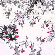 Mystery Digital Art - White as Snow with Cherries by Rachel Christine Nowicki