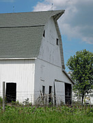 Illinois Photos - White Barn On The Prairie by Larry Lawhead