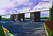 Roberto Mixed Media Originals - White Bridge   by Roberto Edmanson-Harrison